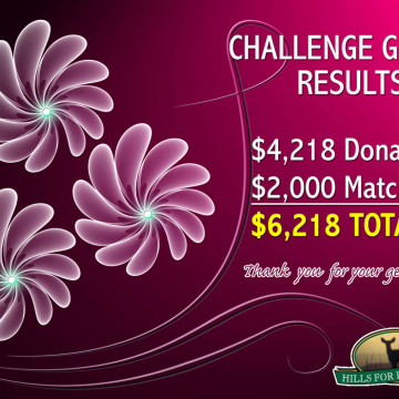 Challenge Grant Results Are In…