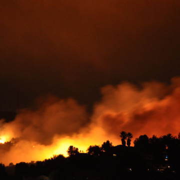 Study Finds Santa Ana Wind Fires Bigger/Faster