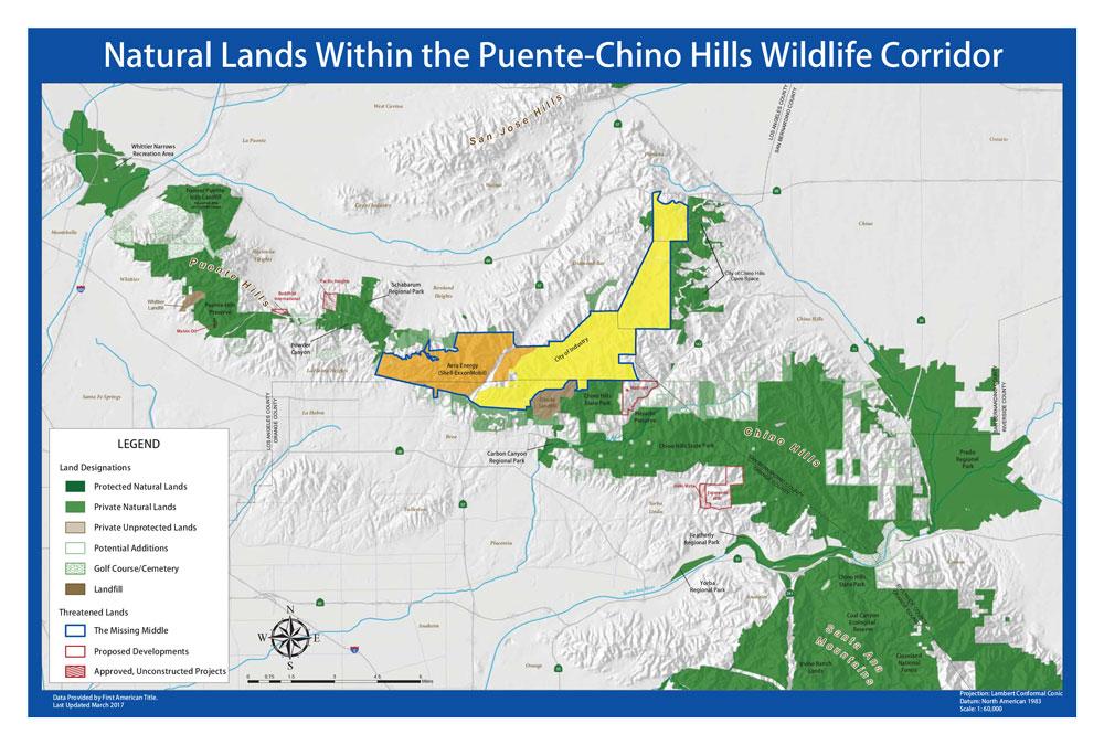 PuenteChino Hills Wildlife Corridor Map Hills For Everyone
