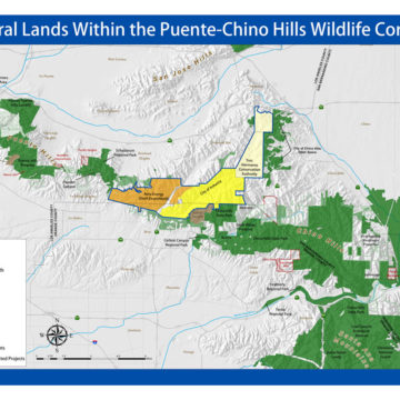 Puente-Chino Hills Wildlife Corridor Map