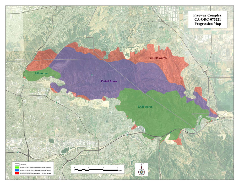 Freeway Complex Fire Map