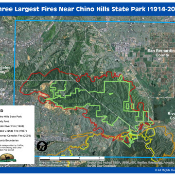 Largest Fires Map