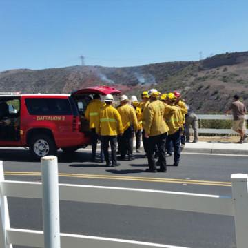 Casino Fire Burns Esperanza Hills