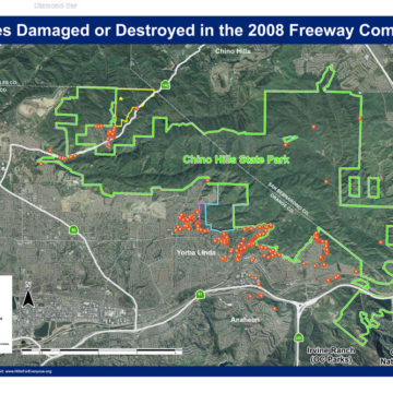 Freeway Complex Fire – Properties Damaged or Destroyed