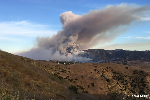 Canyon Fire Burns State Park