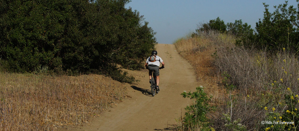Biker in Chino Hills State Park