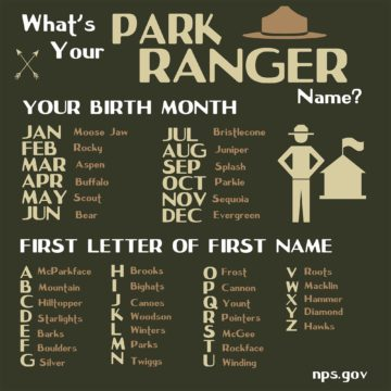 What's Your Park Ranger Name?