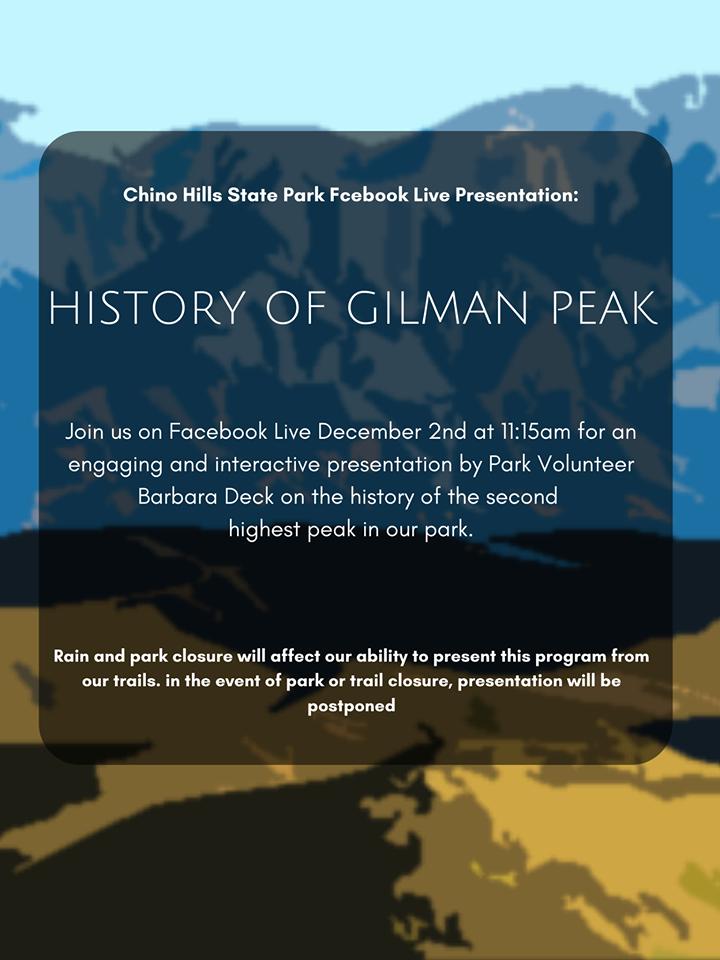 Facebook Live: Gilman Peak History