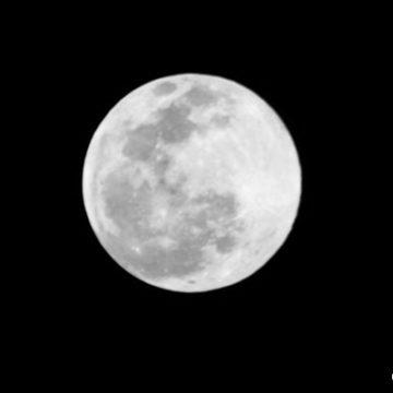 Snow Moon Visible