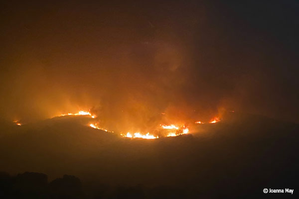 Blue Ridge Fire Up to 15,200 Acres
