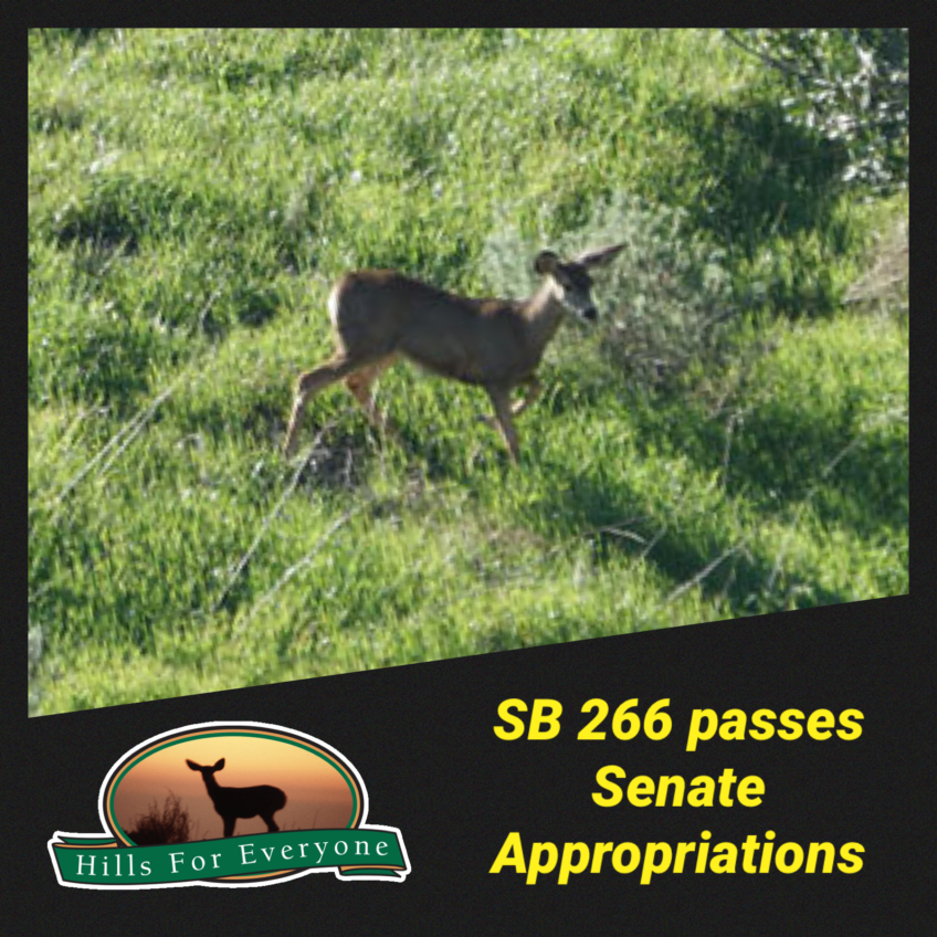 SB 266 Passes Out of Appropriations