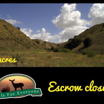 Escrow Closes on 80 Acres