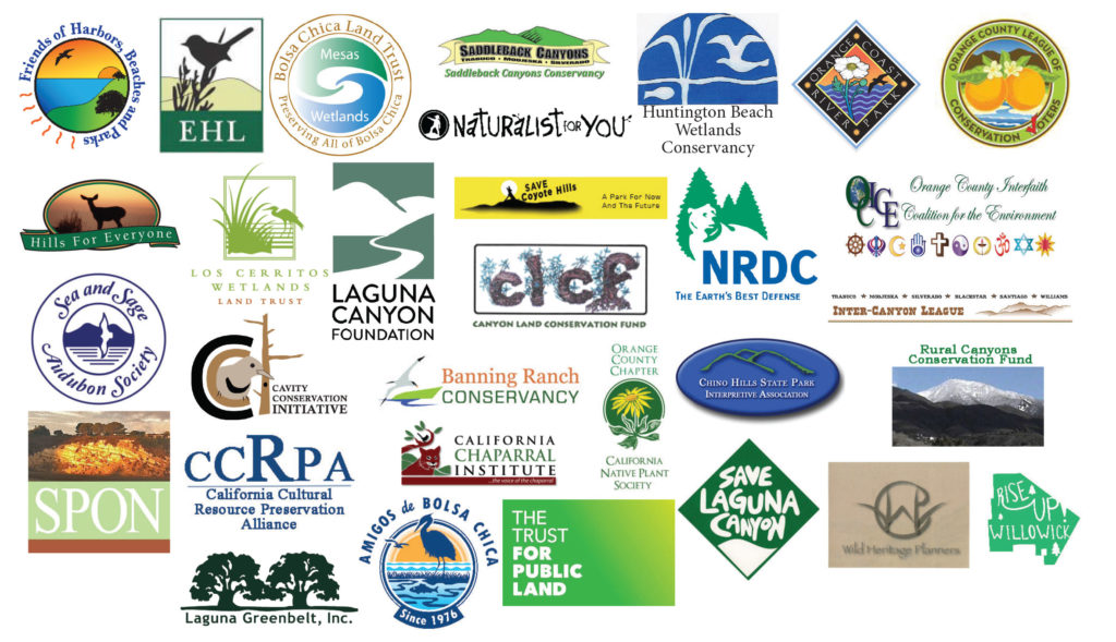 Logos from 31 conservation and community groups that submitted a letter to the California Natural Resources Agency.