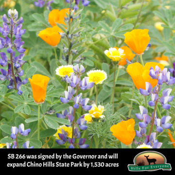 Chino Hills State Park to Grow